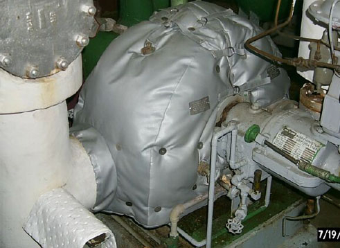 Removable Insulation Covers Blankets For Steam Turbines